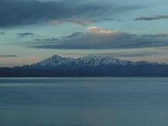 The impressive mountain range of the Cordillea Real in Bolivia.