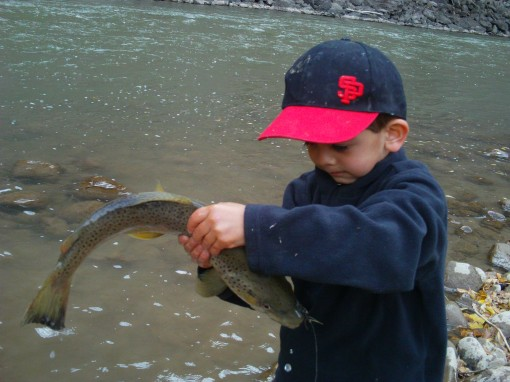 Luke Phillips shows it's in the family blood with a 4 pound Brown out of Glenwood Canyon.