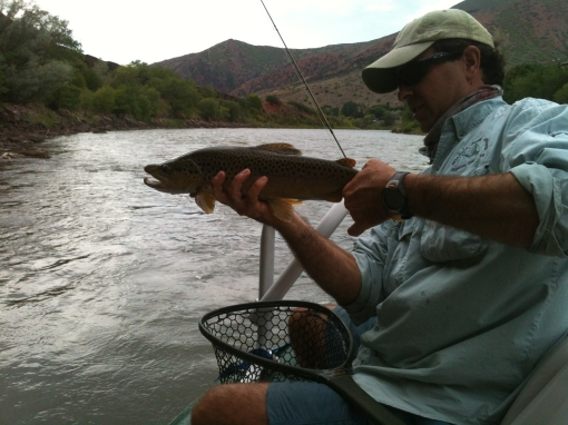 Fly fishing with JP on the Colorado